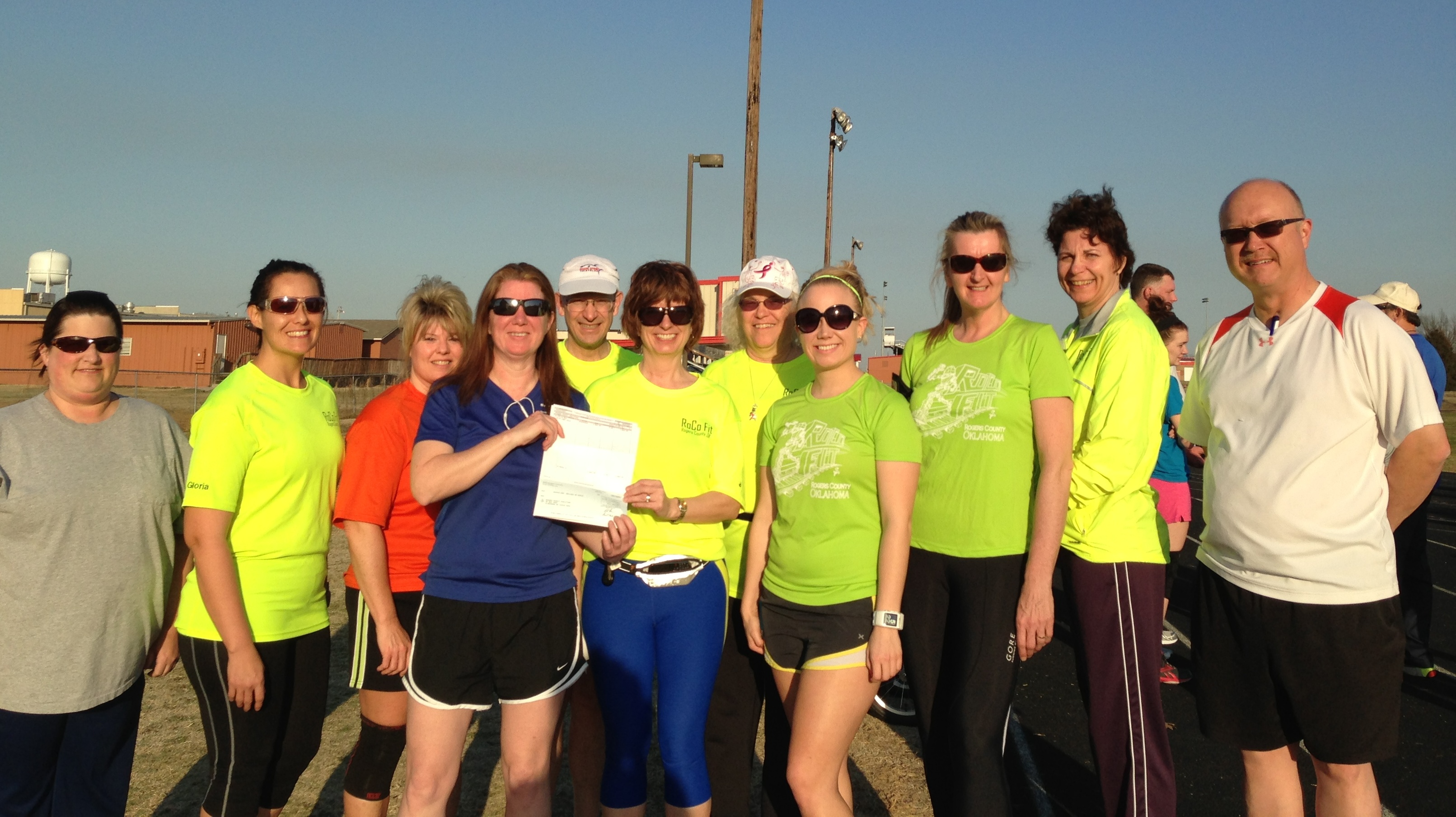 Check from BCBS to RoCo Fit 3-2013 photo